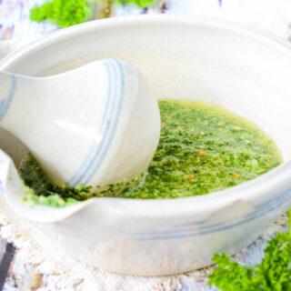 parsley and almond pesto