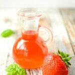 strawberry and basil vinegar by larderlove