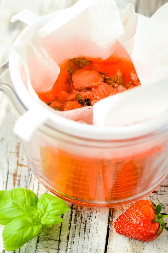 strawberry and basil vinegar