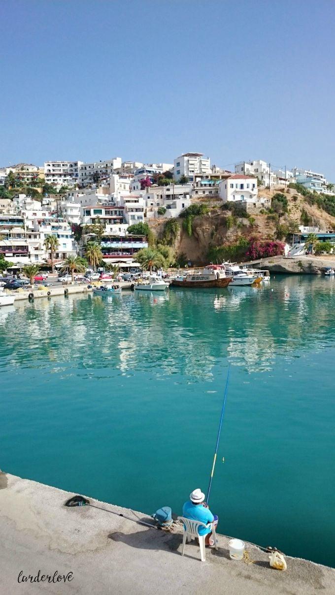 image of Agia Galini harbour in Crete