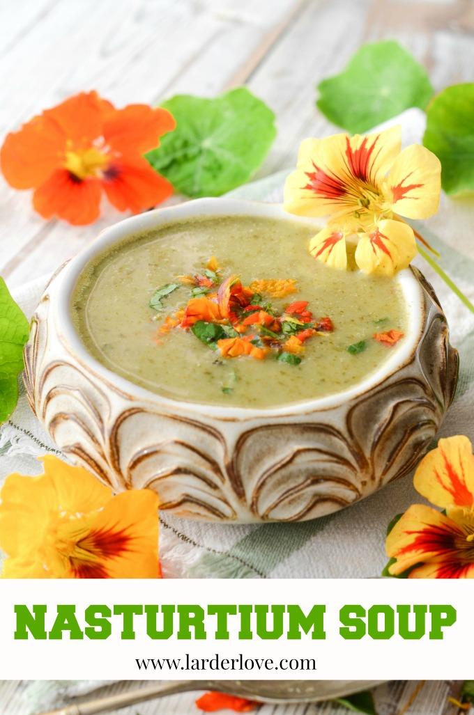 nasturtium soup by larderlove