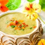 nasturtium soup with flowers