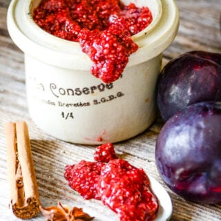 spiced plum chia seed jam