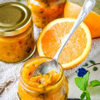 spiced citrus jam on table