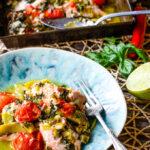 Thai salmon traybake