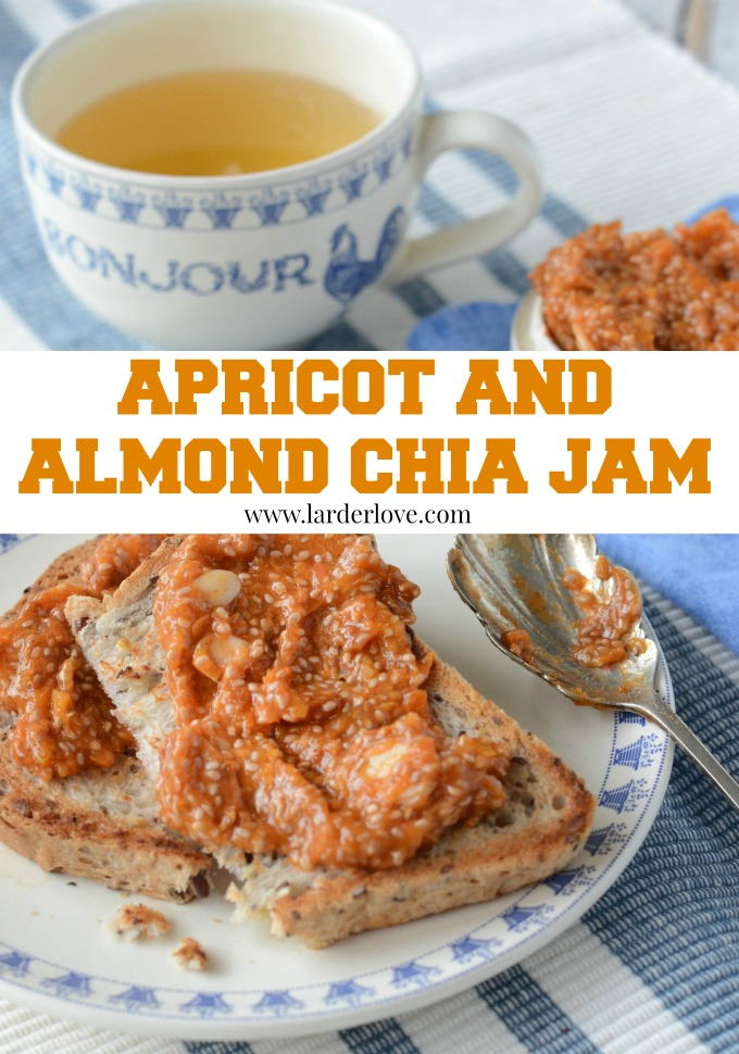 sugar free apricot and almond chia jam by larderlove