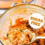 sugar free apricot chia jam