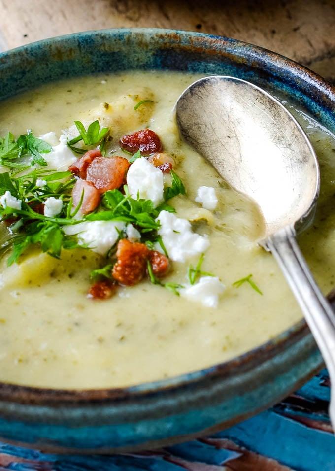 courgette/zucchini sopup