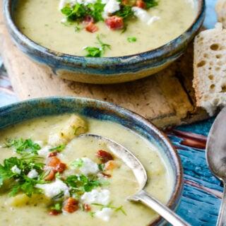 courgette/zucchini soup with feta