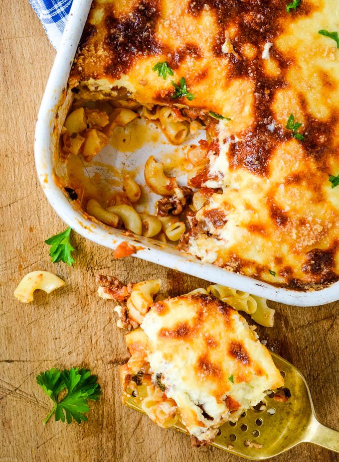 easy traditional Greek pastitsio recipe