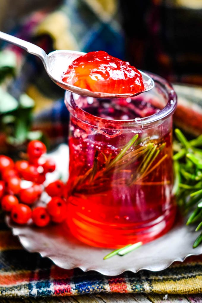 rowan and rosemary jelly by larderlove