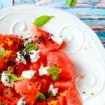 watermelon and feta salad with mint by larderlove
