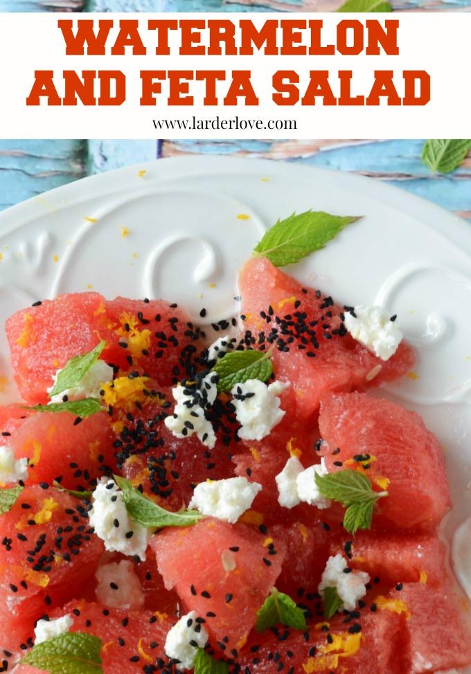 watermelon and feta salad by larderlove
