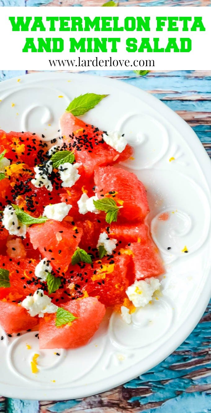 This super easy watermelon and feta salad with mint packs a punch with amazing flavour and is super refreshing too. The perfect summer salad.