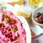 Greek beetroot tzatziki dip
