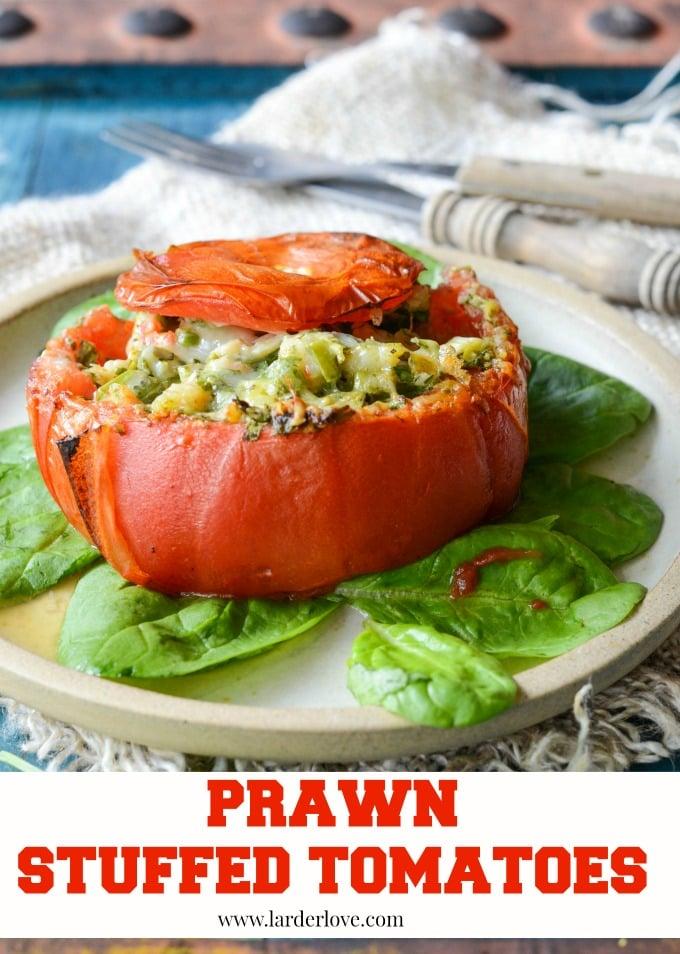 prawn stuffed tomatoes by larderlove