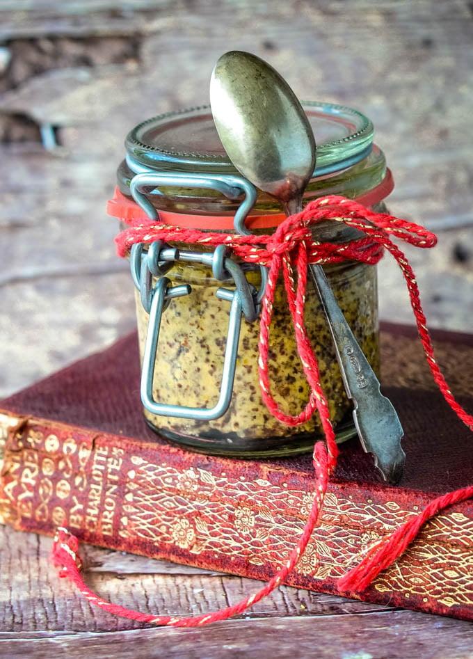 homemade fiery hot mustard by larderlove.com
