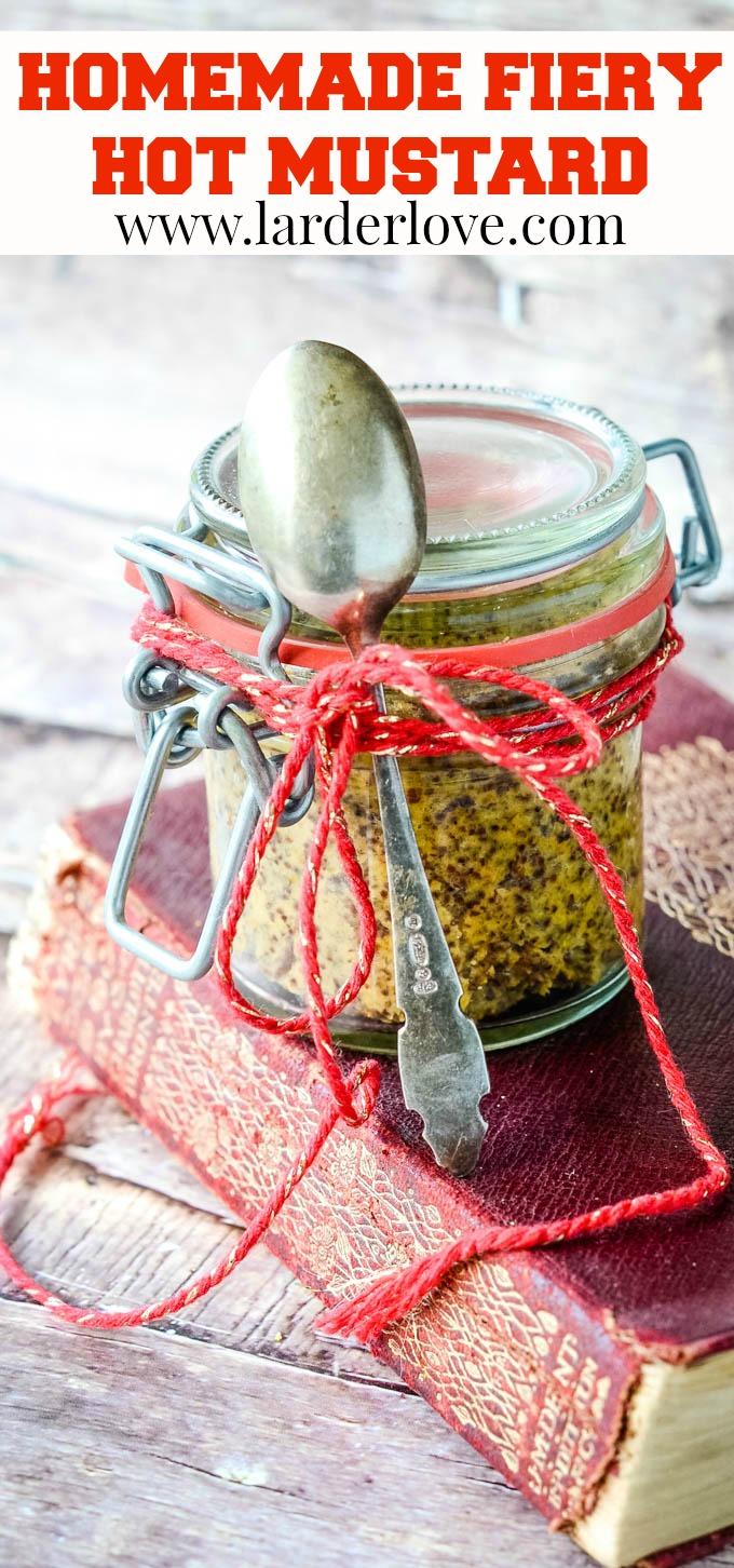 homemade fiery hot mustard pin image