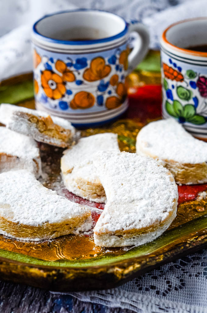 biscuits with coffee in background