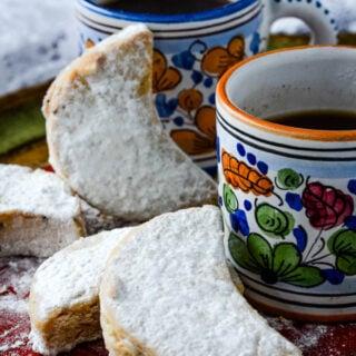 Kourabiethes Greek Christmas cookies/biscuits
