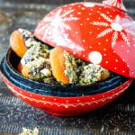 Turkish style nutty stuffed apricots