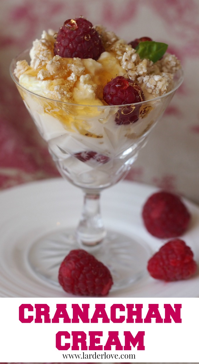 cranachan cream is the ultimate simple but delicious Scottish dessert. Quick to make and tastes fabulous. by larderlove