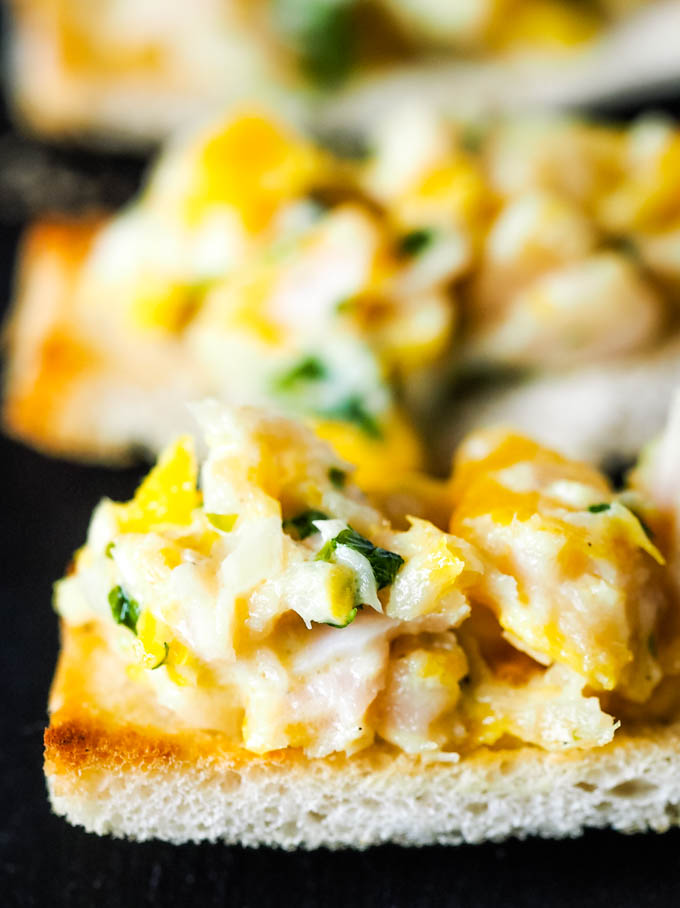 close up of haddock on toast