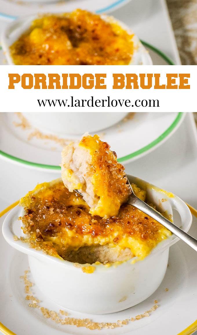 porridge brulee pin image