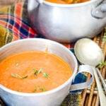 roasted aubergine/eggplant soup