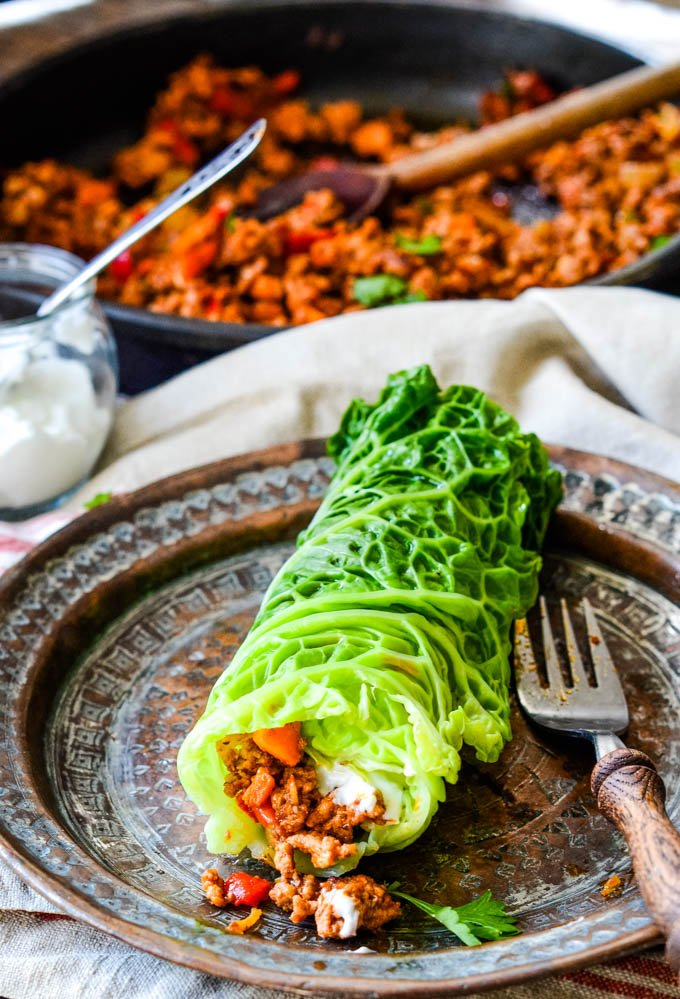 Greek stuffed cabbage rolls
