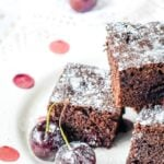 black forest cherry brownies
