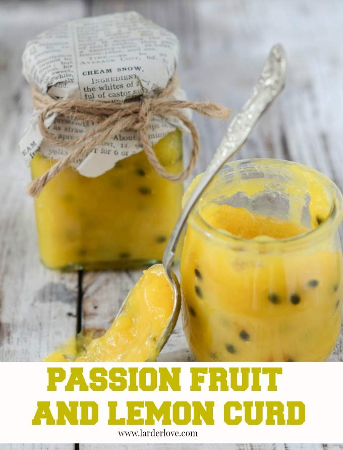 passionfruit and lemon curd by larderlove