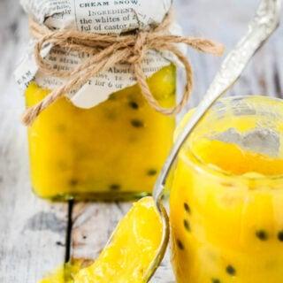 passion fruit and lemon curd by larderlove