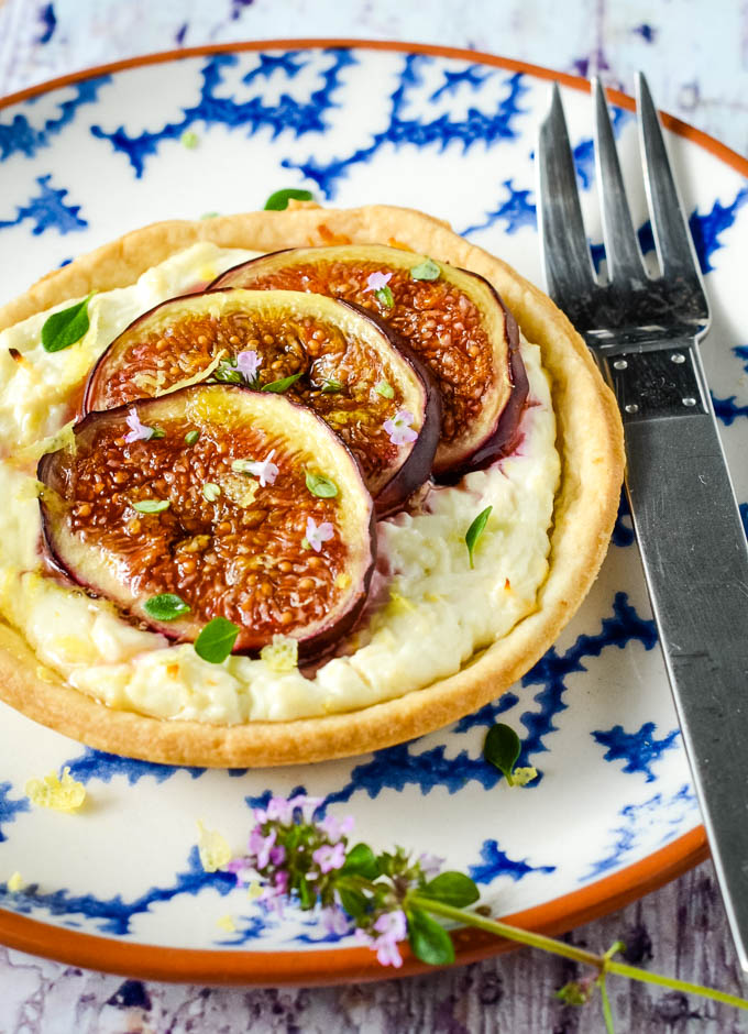 Greek fig and feta tarts