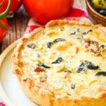 gluten free puttanesca tart