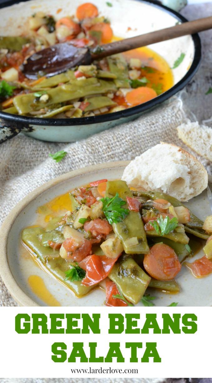 green beans salata by larderlove