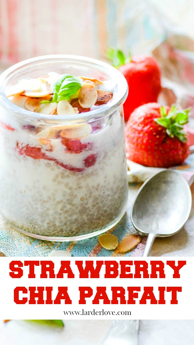 this super easy and quick to make strawberry chia parfait makes the perfect summer dessert that is actually good for you too
