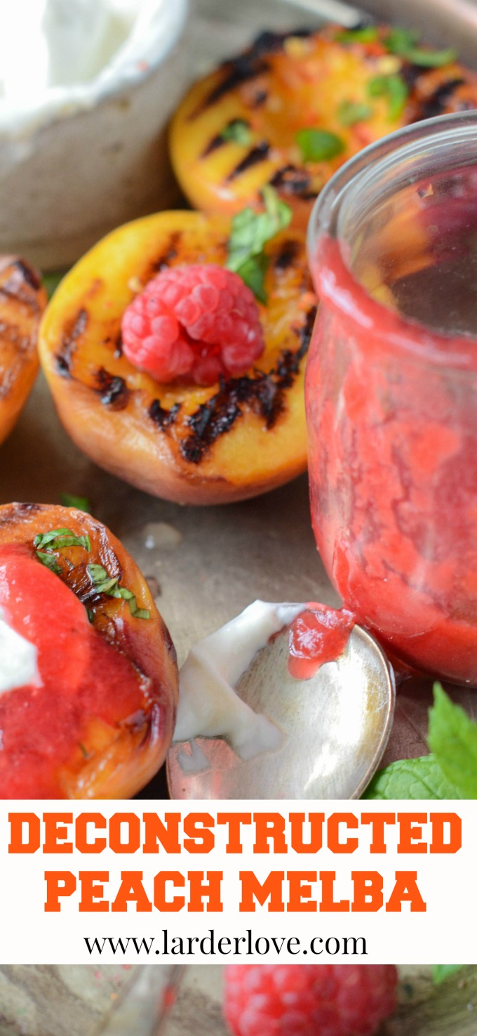 deconstructed peach melba a super easy dessert to whip up in minutes by larderlove