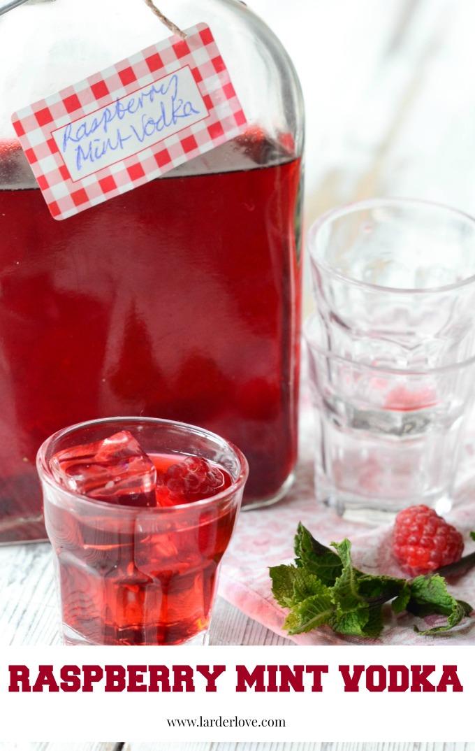 raspberry mint vodka by larderlove