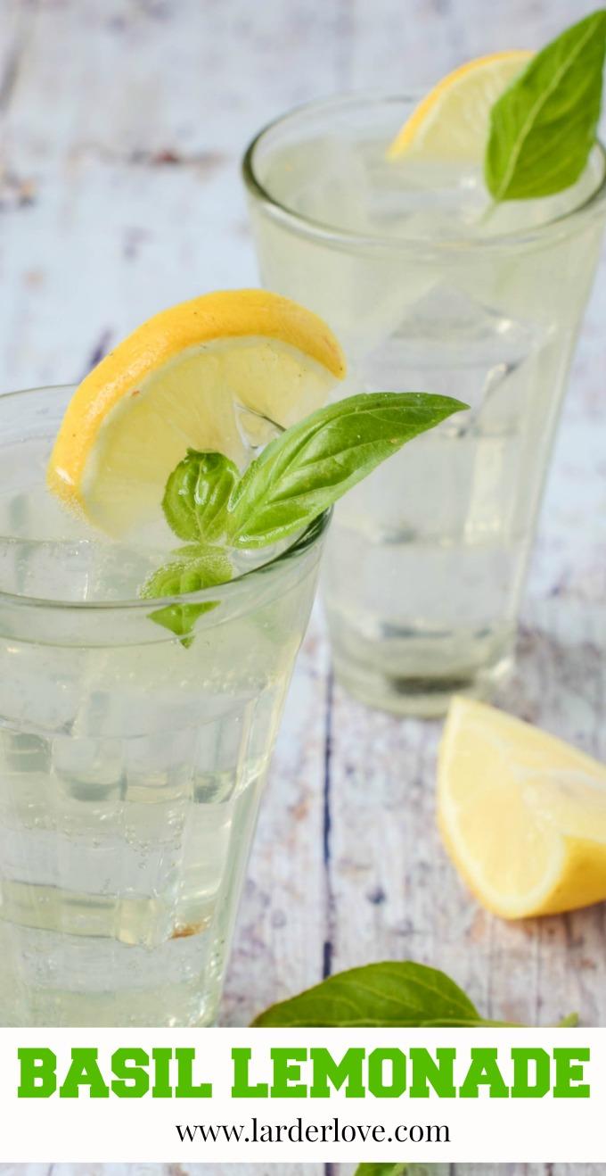 basil lemonade by larderlove