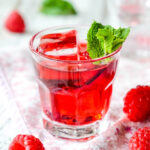 super easy raspberry and mint vodka