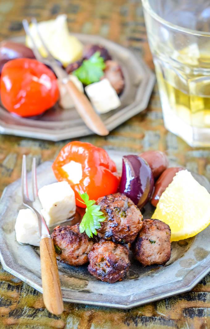 meatballs on plates