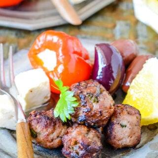 Greek fried meatballs Keftedes