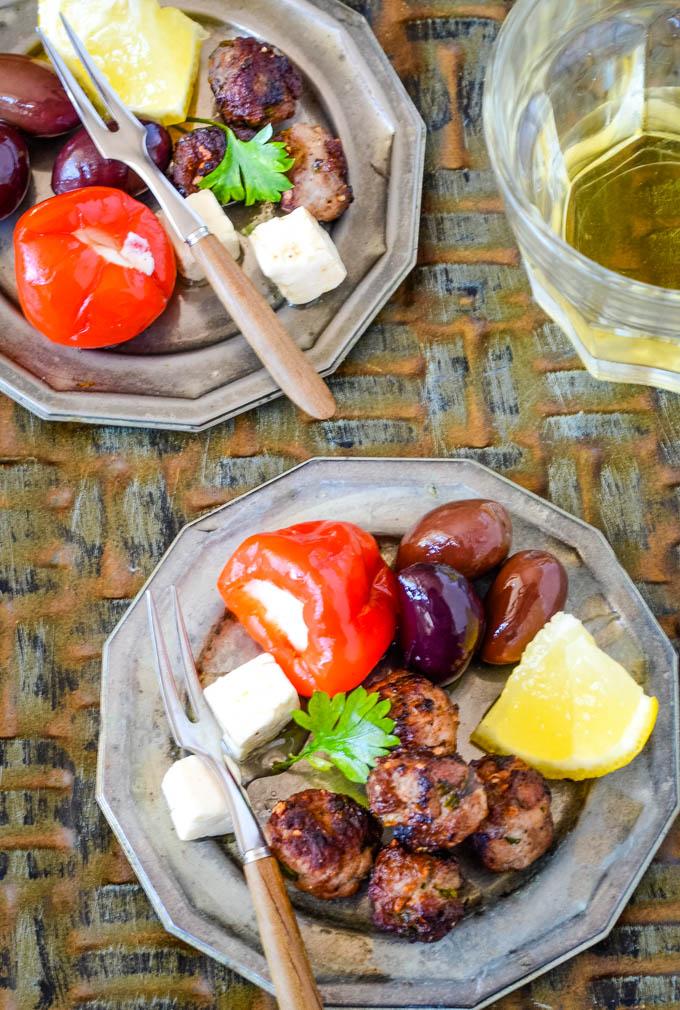 Greek fried meatballs