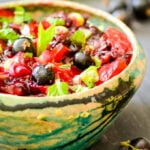 simple blackcurrant and mint salsa by larderlove