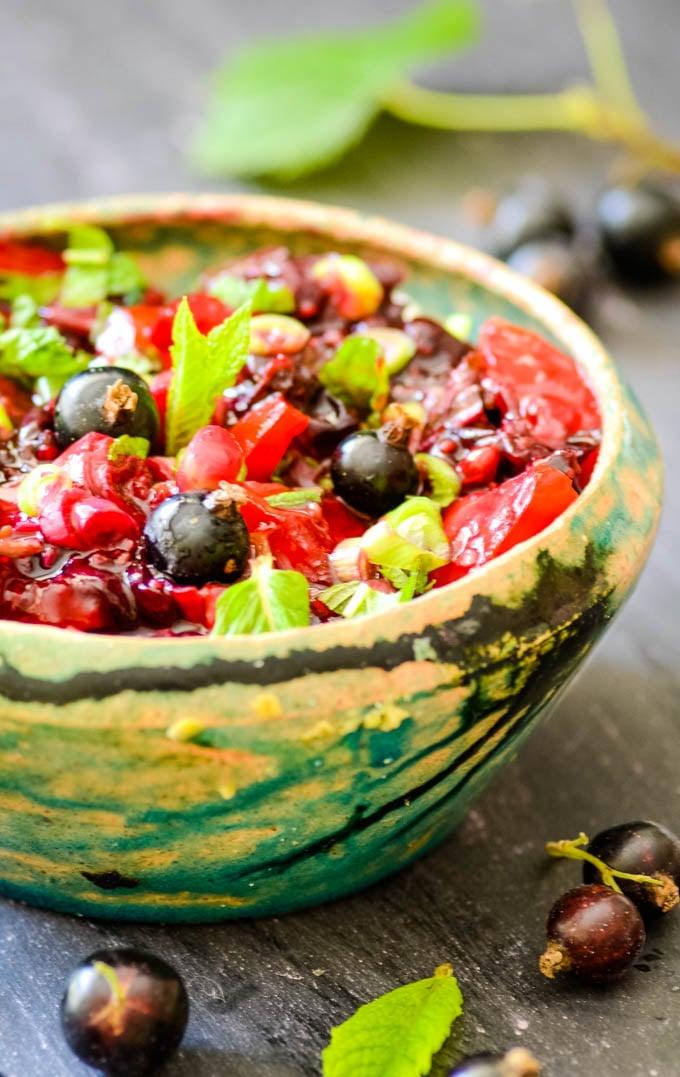 blackcurrant salsa by larderlove