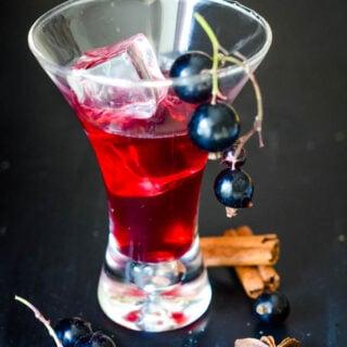 spiced blackcurrant vodka liqueur