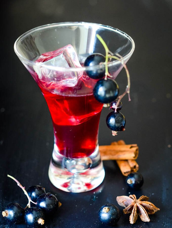 spiced blackcurrant vodka liqueur