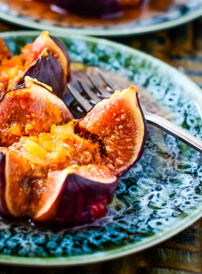 close up of baked fig