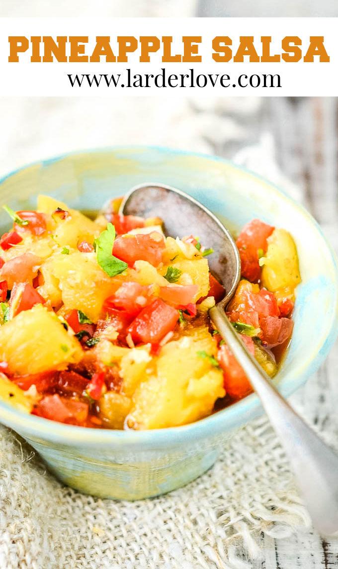 pineapple salsa pin image